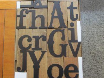 DaySpring letterpress blocks