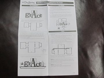 DaySpring Letterpress Block Instructions