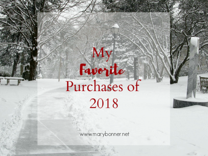 Mary Bonner shares her favorite Amazon purchases of 2018